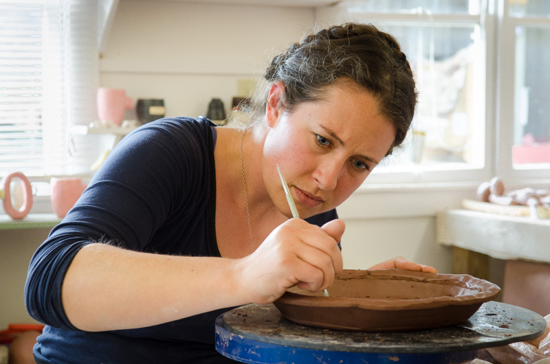 ruth easterbrook in the penland clay studio