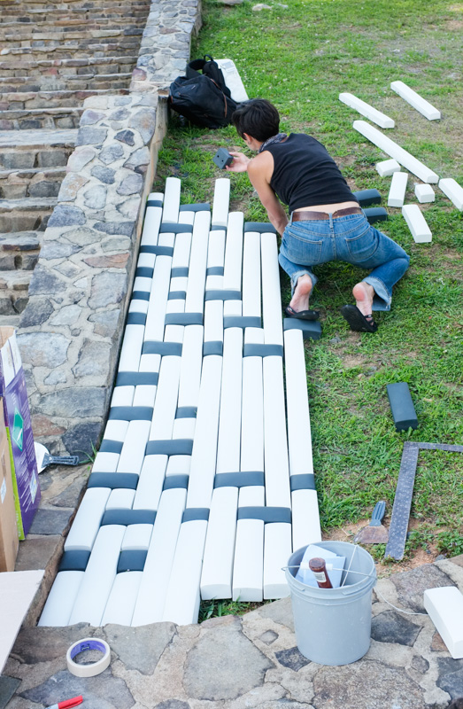 rachael garceau installation at Penland