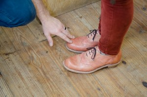 Malika Green's shoes at Show and Tell. Photograph by Robin Dreyer