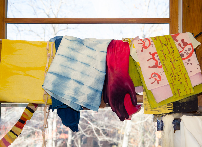 materials in natural dye class at Penland School