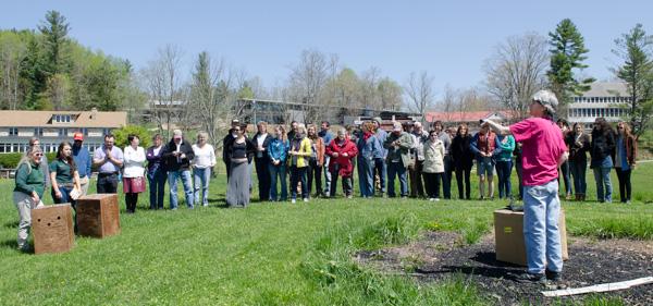 hawk release at penland school
