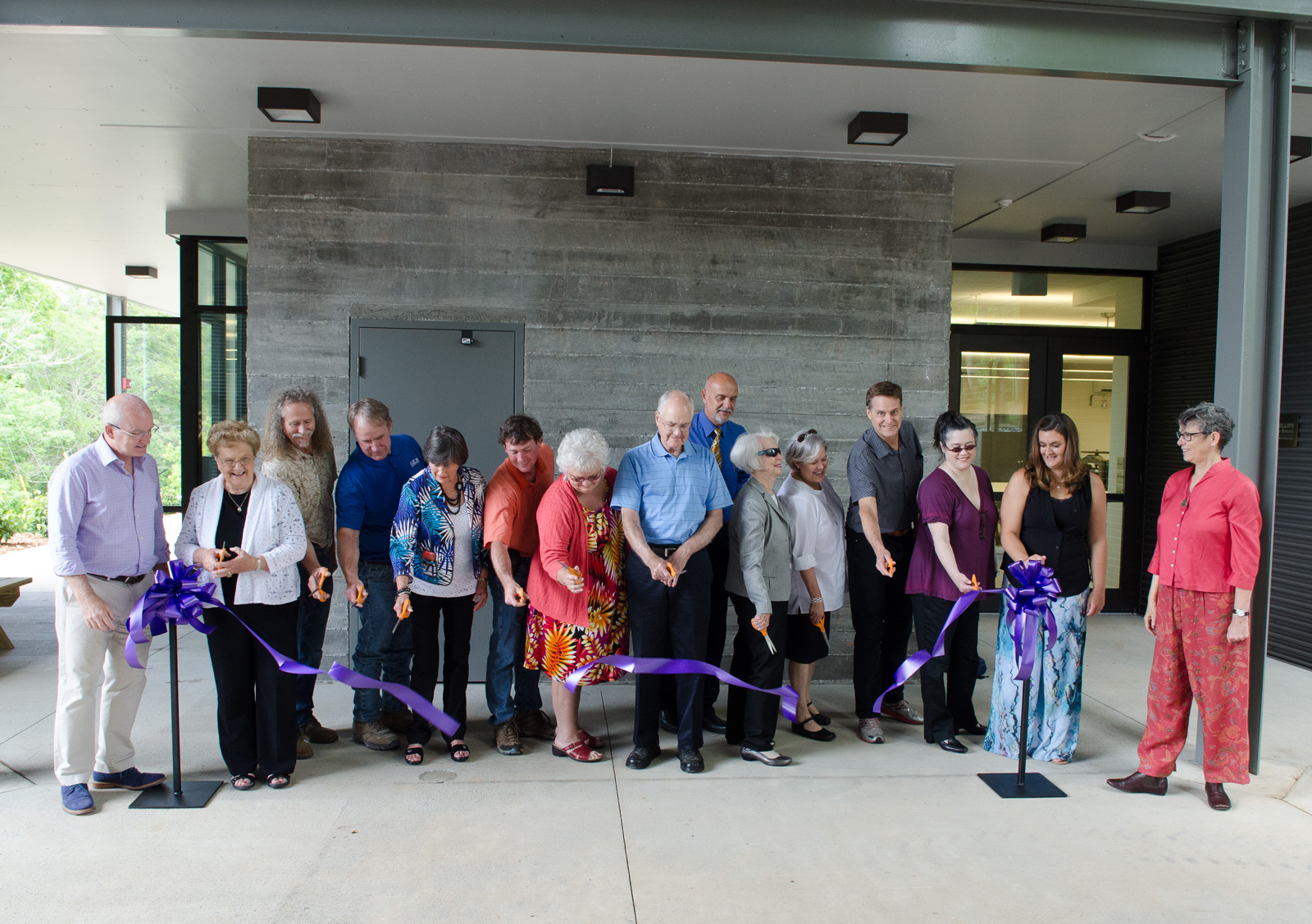 ribbon cutting at Penland
