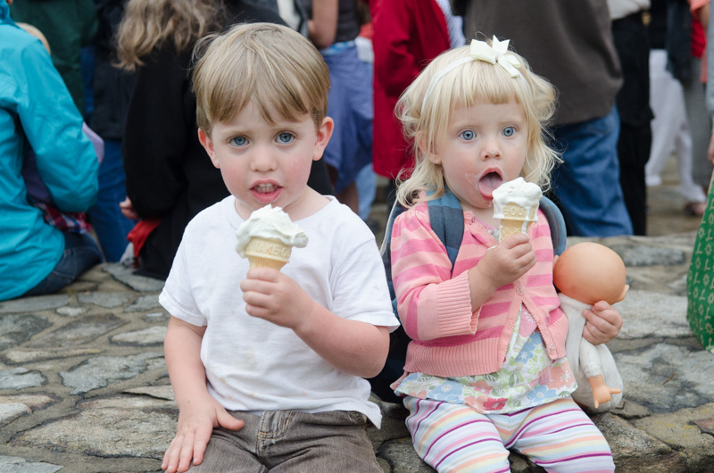 A little ice cream to round out the celebrations!