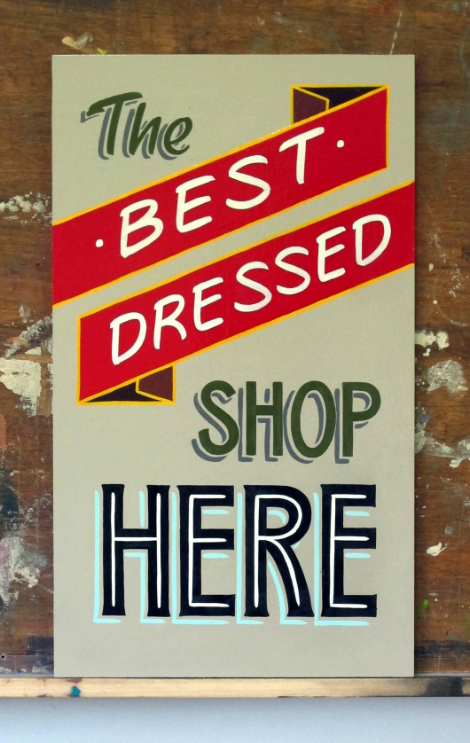 hand painted sign by Timothy Maddox
