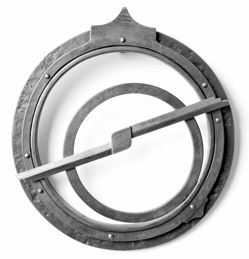 metal astrolabe sculpture