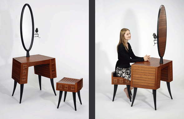 Desk and stool by Sylvie Rosenthal