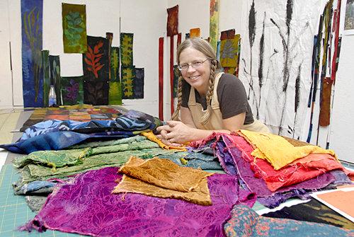 Carol LeBaron in her studio
