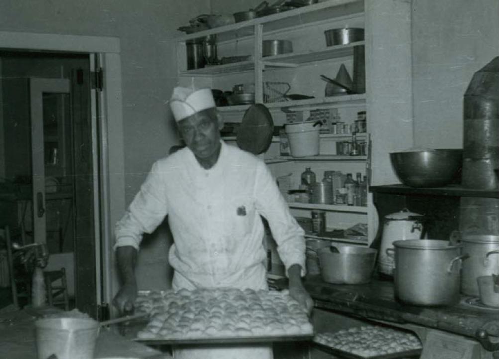 a man baking