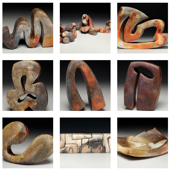 Wood-fired clay sculptures by Eric Knoche