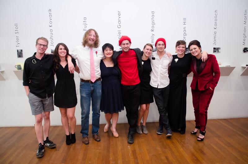 Left to right: Tyler Stoll, Meghan Martin, Joshua Kovarik, Elmar Fujita, Daniel Garver, Jamie Karolich, Bryan Parnham, Emily Rogstad, Morgan Hill