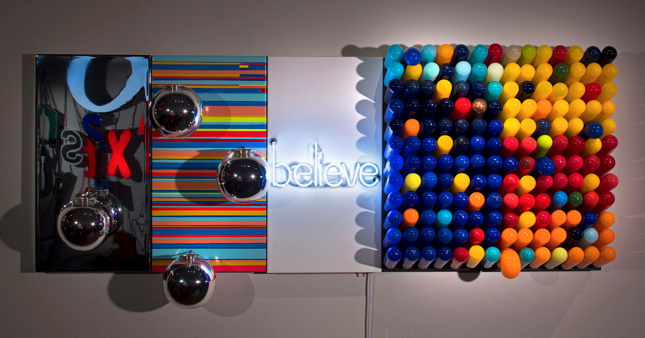 glass and neon installation by Jen Elek and Jeremy Bart