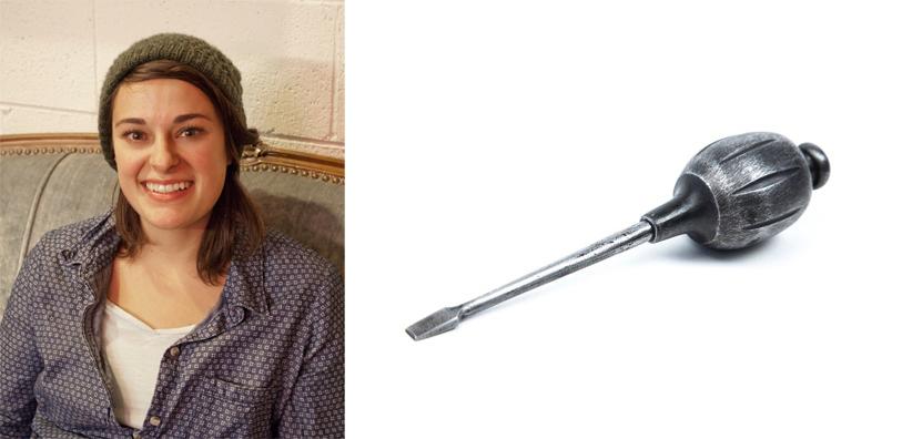 Rachel Kedinger and her screwdriver
