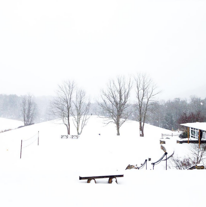 In the middle of two straight days of snow. Photo by missmarimos