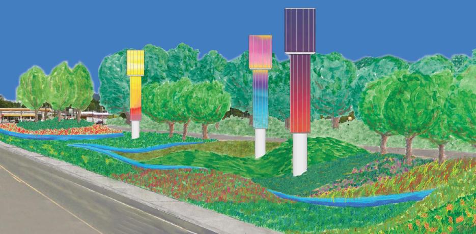rendering of the Burnsville Gateway installation