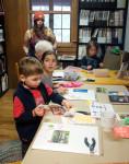 kids using stickers