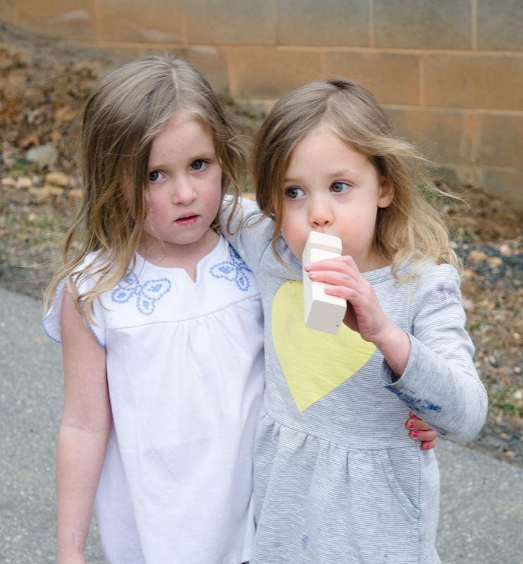 These two young visitors made a whistle—and it works!