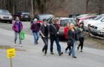 visitors walking on campus