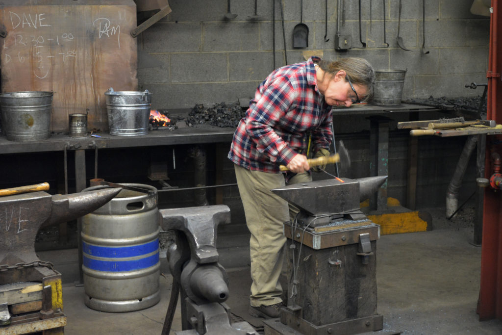 The iron class started by forging spoons and other small objects
