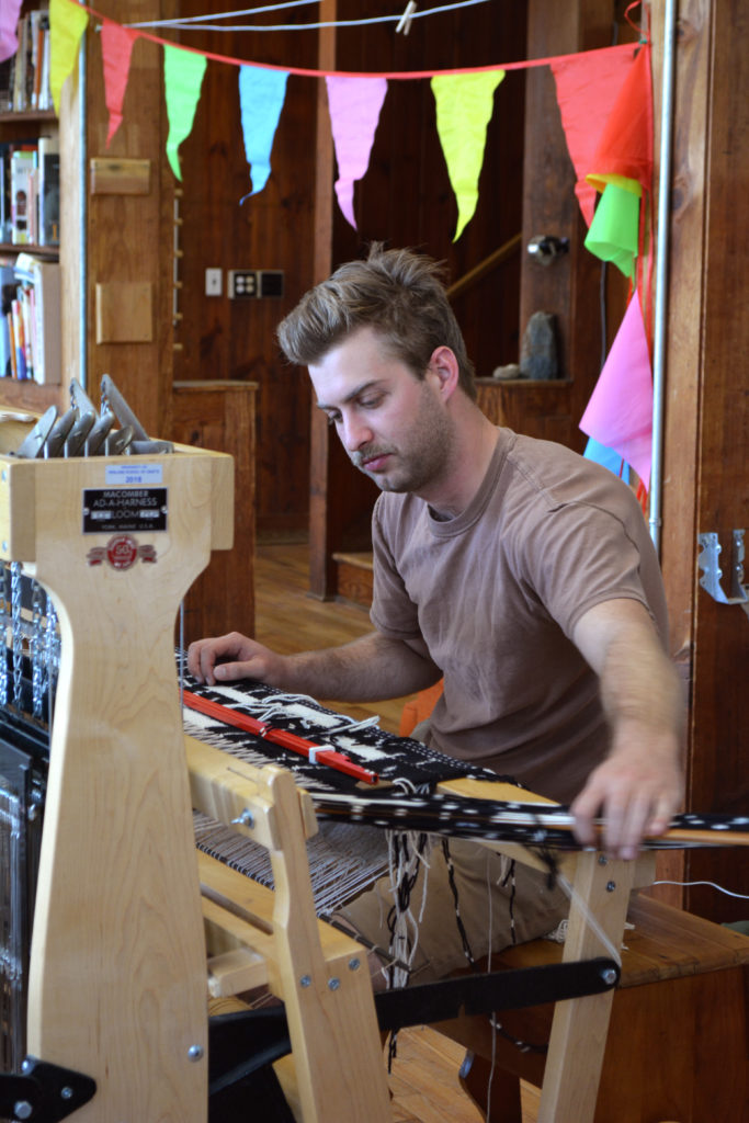 Ikat weaving (and party banners!)