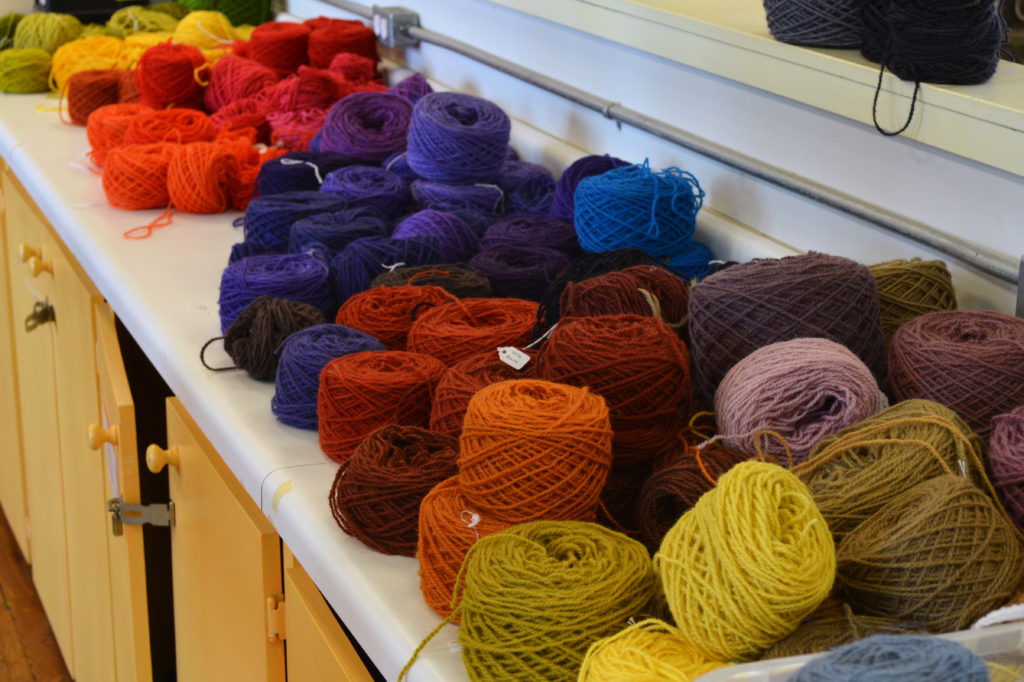 The weaving studio has looked like a veritable Pantone book this spring