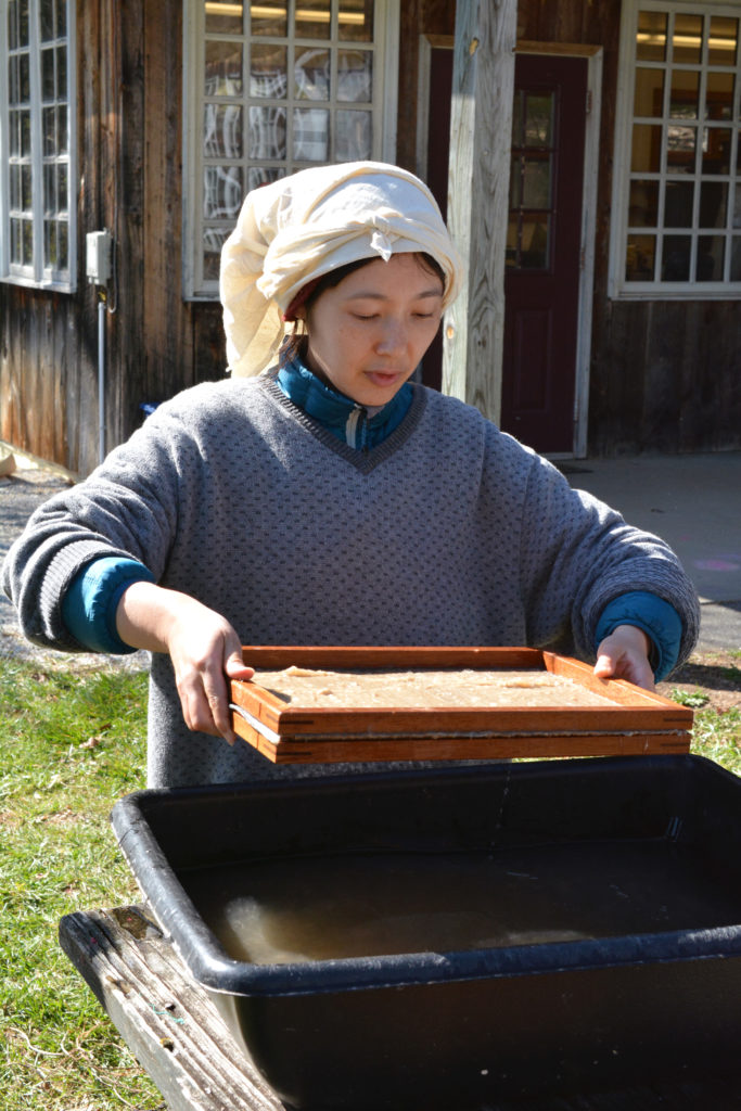 Learning the delicate art of Eastern papermaking