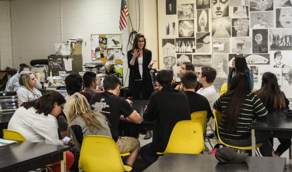 Mercedes Jelinek teaching at Mitchell High