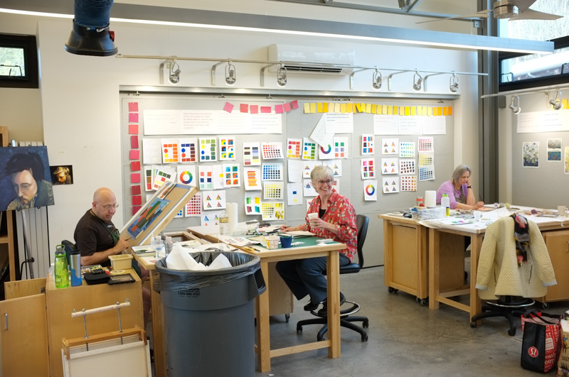 For Alicia Keshishian's color theory workshop, the whole drawing studio got a colorful makeover.