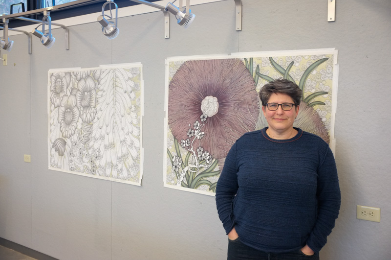 Nancy Blum came to campus as this spring's visiting artist