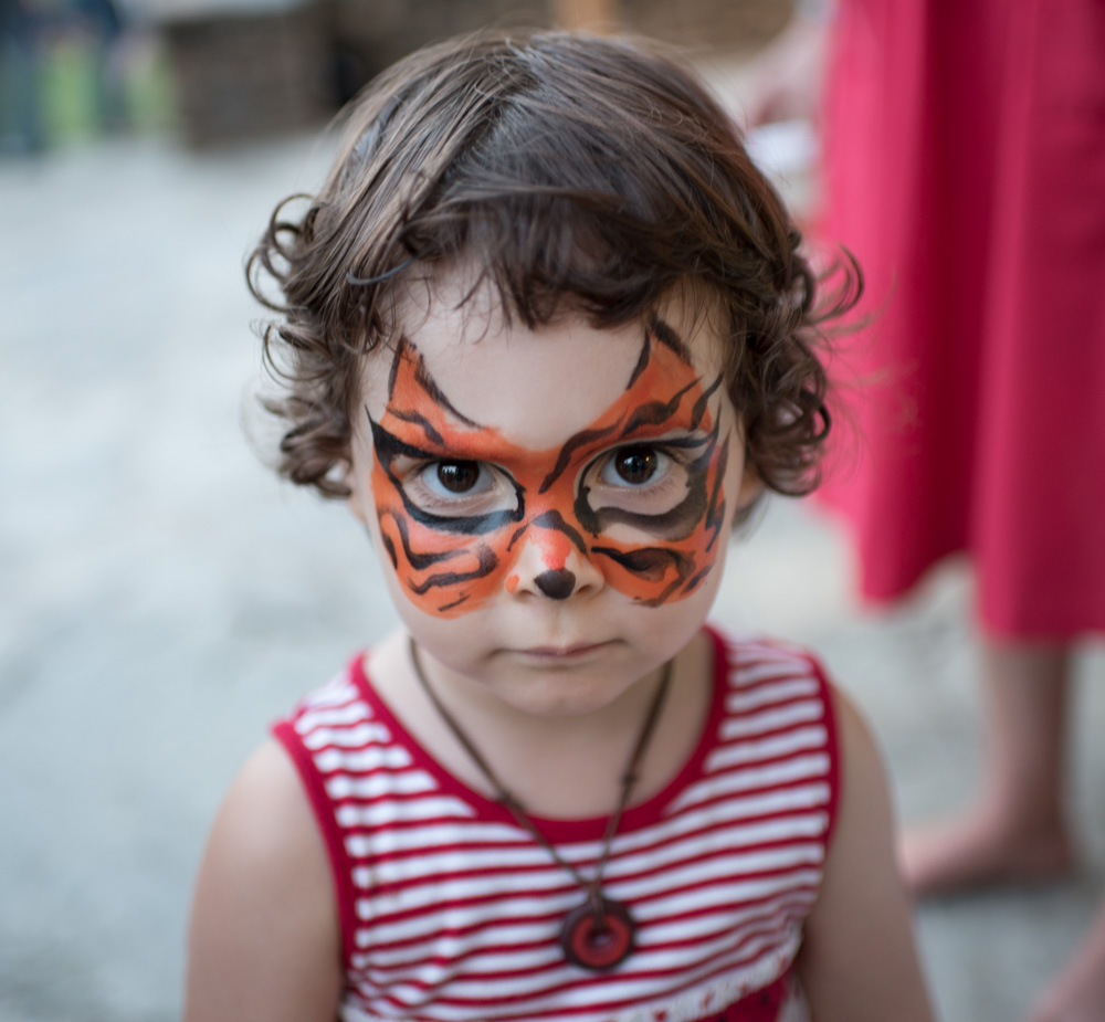 Some seriously fierce face painting took place after the parade.