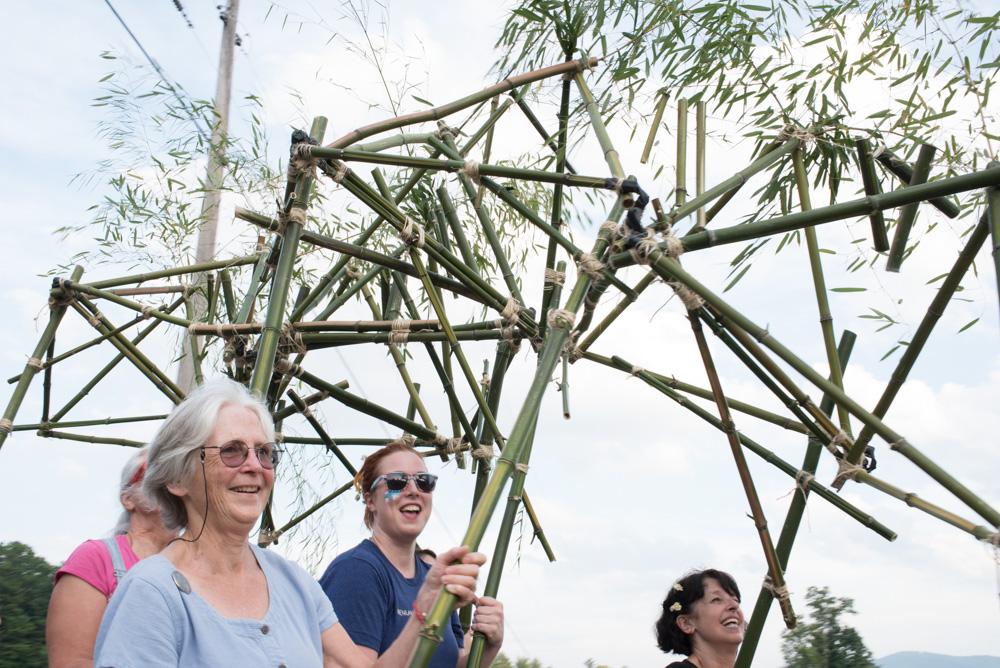 Barbara Cooper's class made quite an impressive moving sculpture.