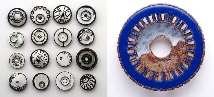 enameled pieces by Kristina Glick