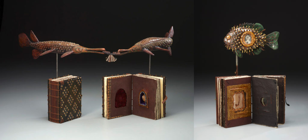 two book sculptures by Daniel Essig