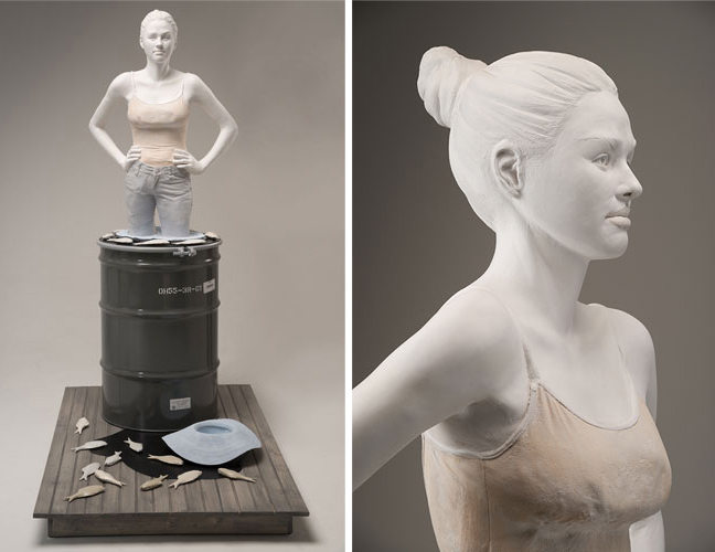 "Nan Smith, ""Spill,"" glazed and painted earthenware, glazed porcelain, metal, rubber, wood"