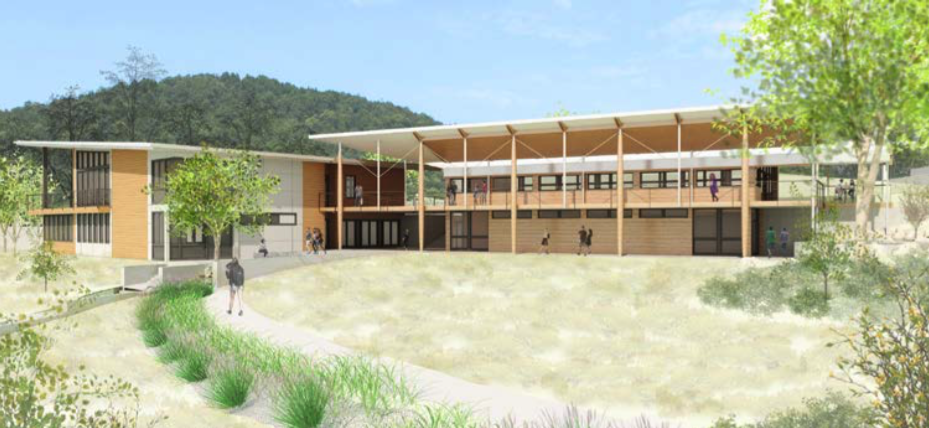 A rendering of the front of the new Northlight complex