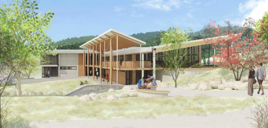 Rendering of Northlight and surrounding landscaping
