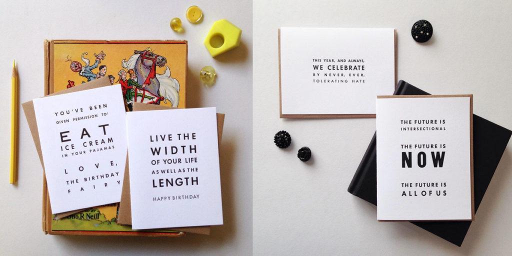 letterpress printed greeting cards