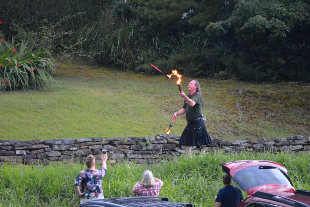 Kirk, flame juggler