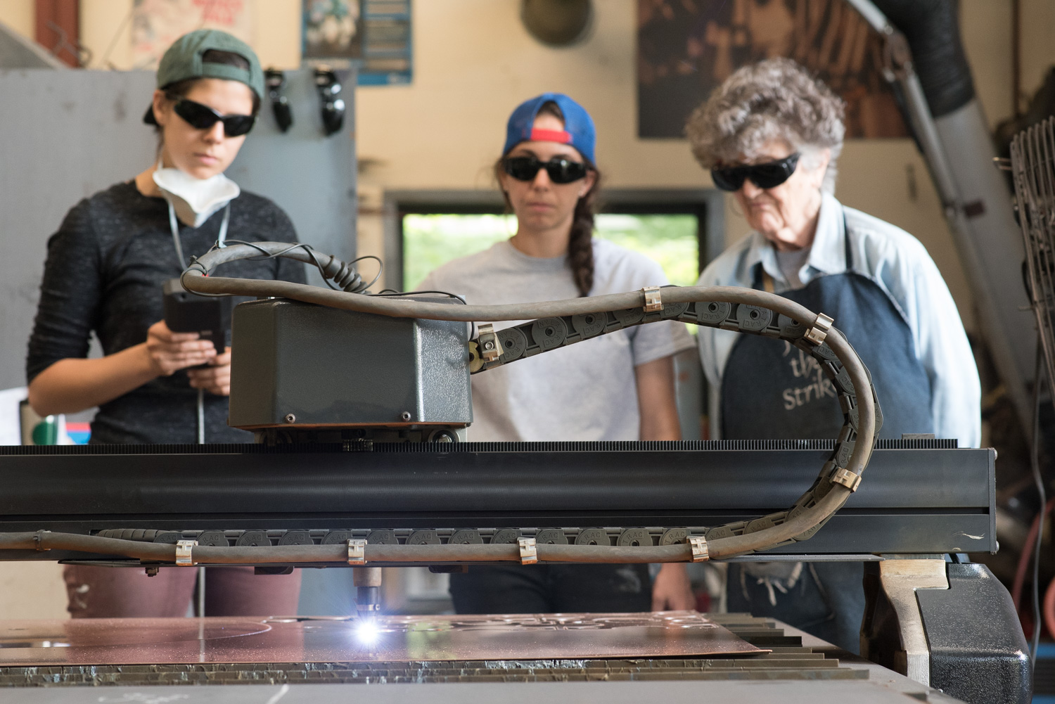 CNC plasma cutter in the Penland iron studio