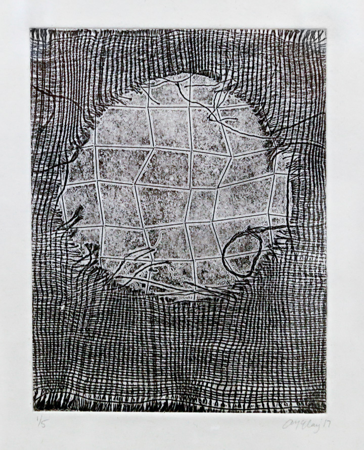 Alex McClay, May I Leave Now? etching on handmade paper