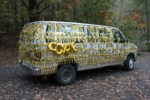 van decked out with gold decorations