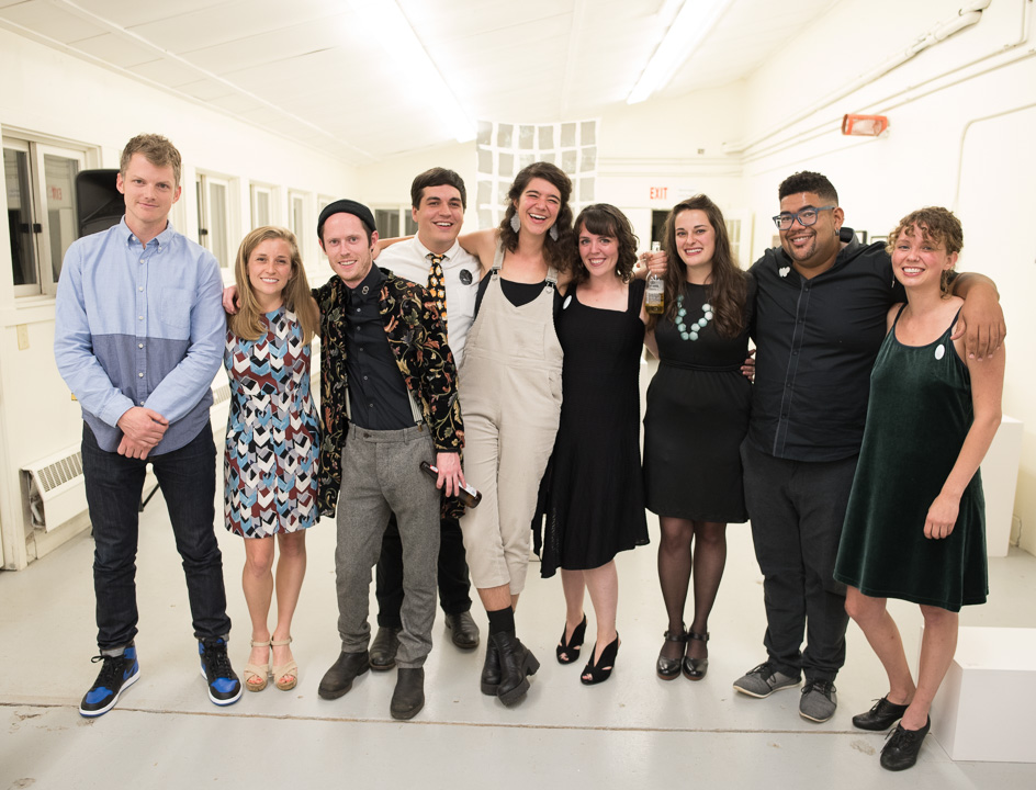 Penland's A+ core fellows! Thomas Campbell, Eleanor Anderson, Kyle Kulchar, Elliot Keeley, Sarah Rose Lejeune, Stormie Burns, Rachel Kedinger, Corey Pemberton, and Alex McClay