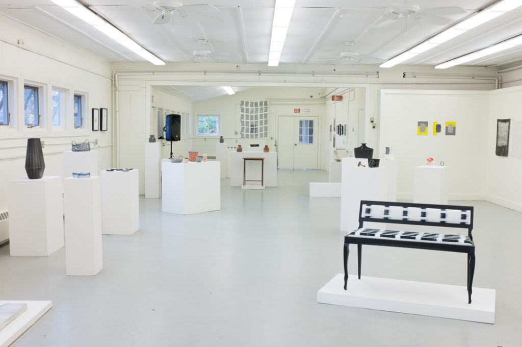 In addition to making all the work, the core fellows select the pieces to exhibit and do all the installation themselves.