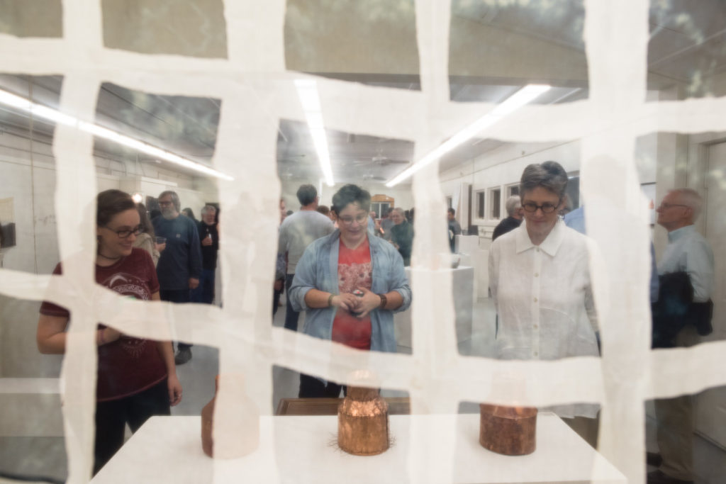 A look through weaving by Sarah Rose Lejeune at the show on opening night