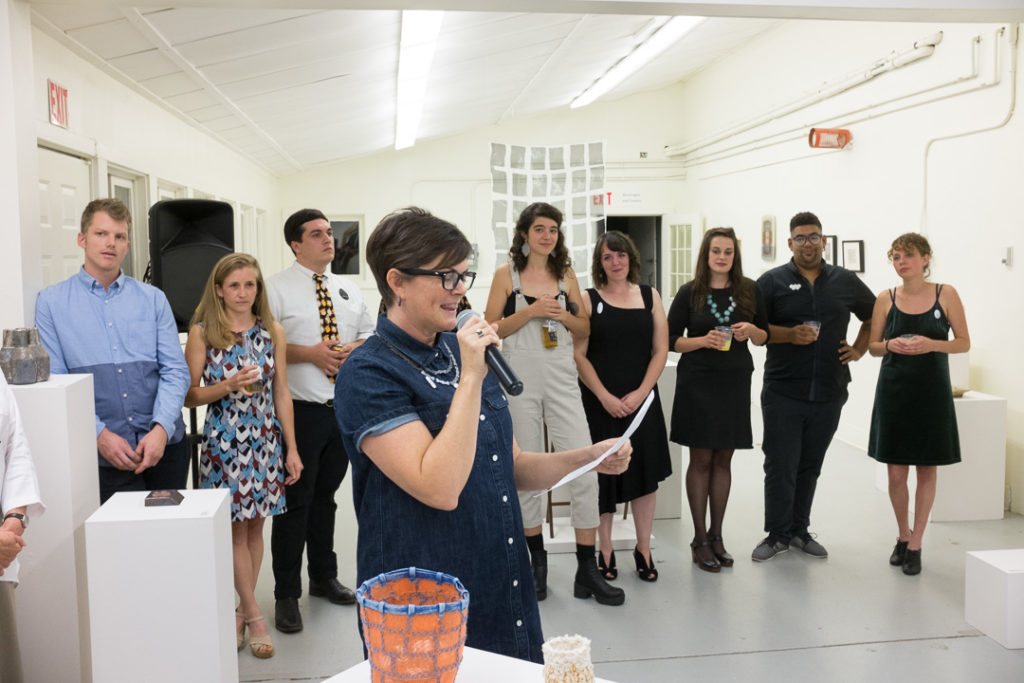 Penland's program director Leslie Noell introduced each core fellow with observations about their work and growth as artists.