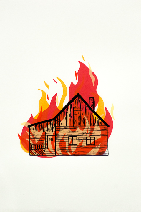 Stormie Burns, Everything is Fine, screenprint
