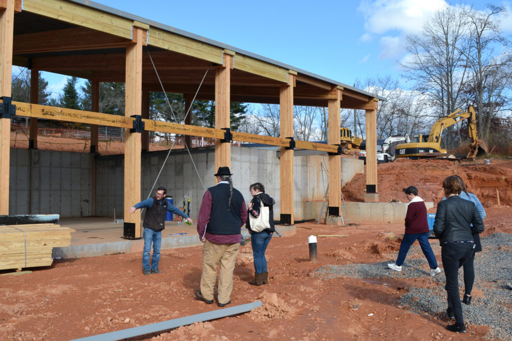 Covered porch space will extend out from the social hall about ten feet