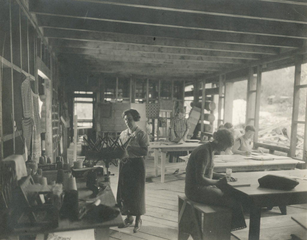 Craft House Interior, 1935 (no windows or doors just yet!)