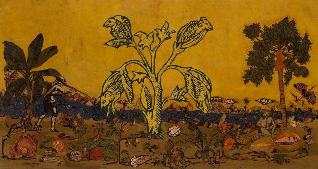 Kalamkari piece by Lavanya Mani