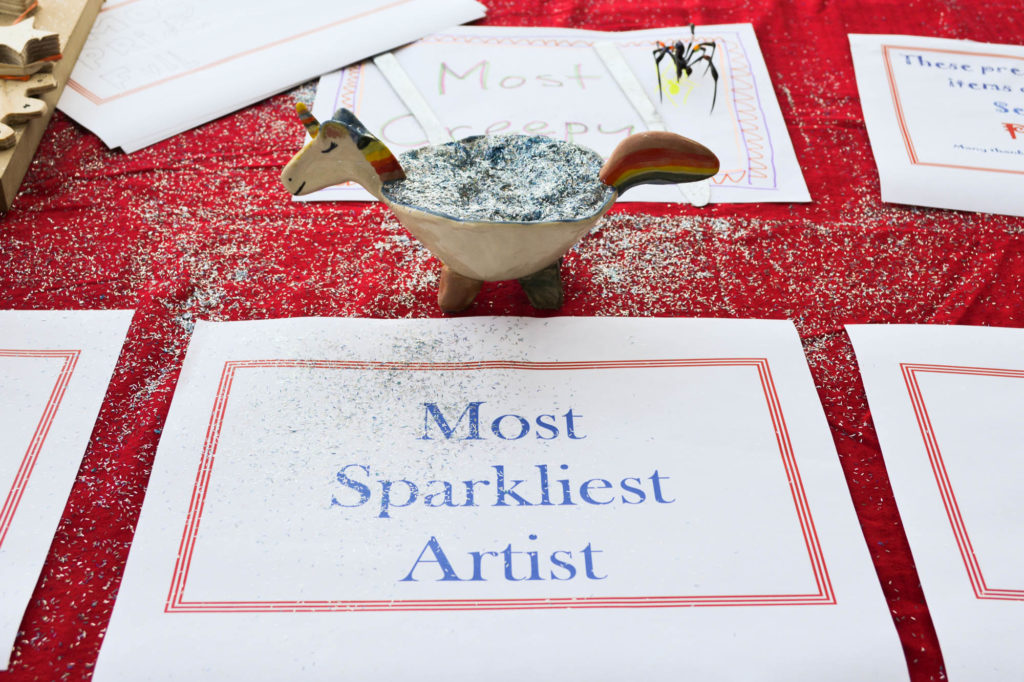 "the parade award for ""Most Sparkliest Artist"""