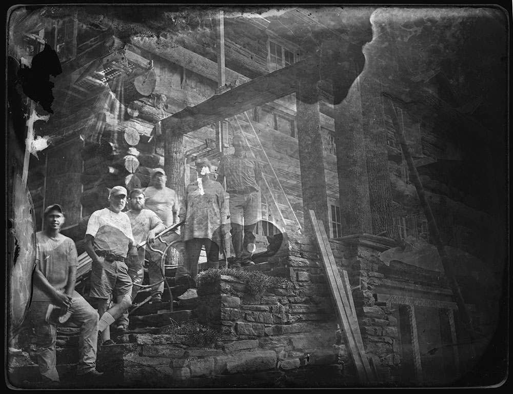 Dave Sommer glass-plate negative of Craft House